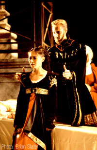 Steven as Lord Capulet with Chiaki Nagao as Juliet in Romeo & Juliet