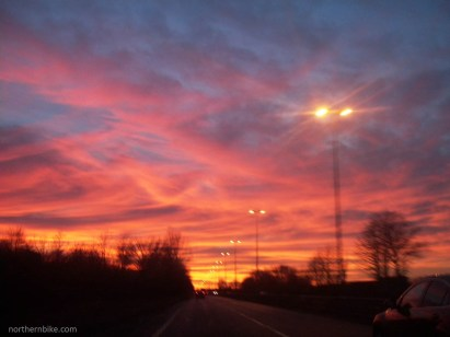 Teesside sunset - A66, Stockton on Tees, England