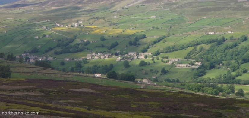 Low Row, Swaledale from Harkerside Moor