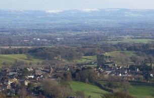 Richmond, with the Hambleton Hills beyond