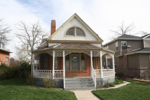 This highly ornate Queen Anne sits just north of the Main library at 324 E. Oak.