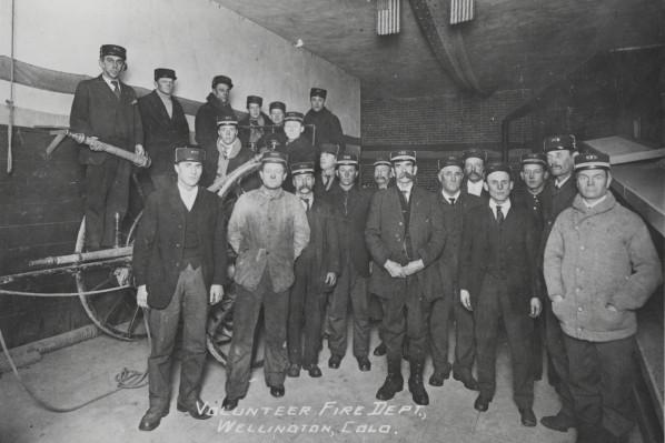 The Wellington Volunteer Fire Department in 1907.