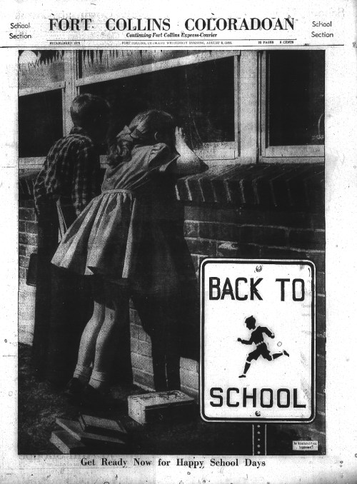 Back to School in Fort Collins – 1956