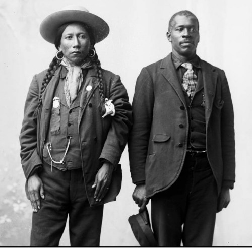 Dick Charlie was a full blooded Ute.  John Taylor was a Black man, but was considered Ute by marriage.  (Photo from the Denver Archive.)