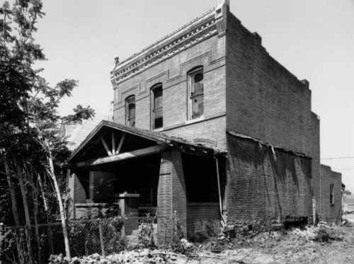 The Justina Ford house in 1983. (Photo from the Denver Public Library Archive.)