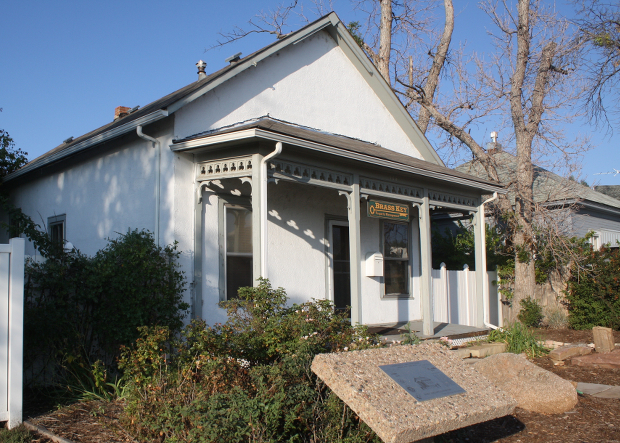 """The """"Yellow Schoolhouse"""" still stands at 115 Riverside, though it has not been yellow for awhile now."""