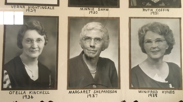 Margaret Sheperdson was very active with the Masons. (It looks like someone added horns and a beard to Margaret's photo at some point, most likely a former student of hers.)