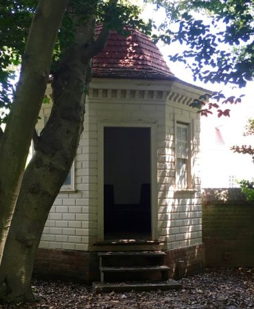 """This is one of two privies near the house. As my kids were eager to point out, """"George Washington pooped here."""""""