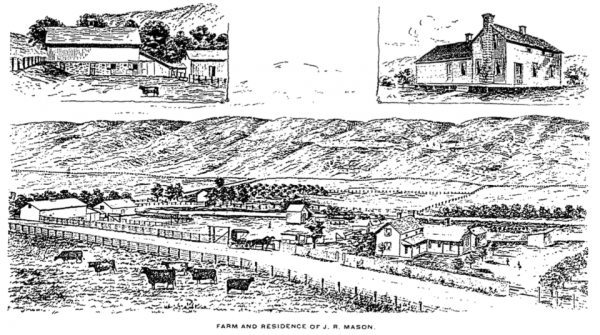 J. R. Mason's Farm and Residence. (Photo from the January 1, 1894 Fort Collins Express, via ColoradoHistoricNewspapers.com.)