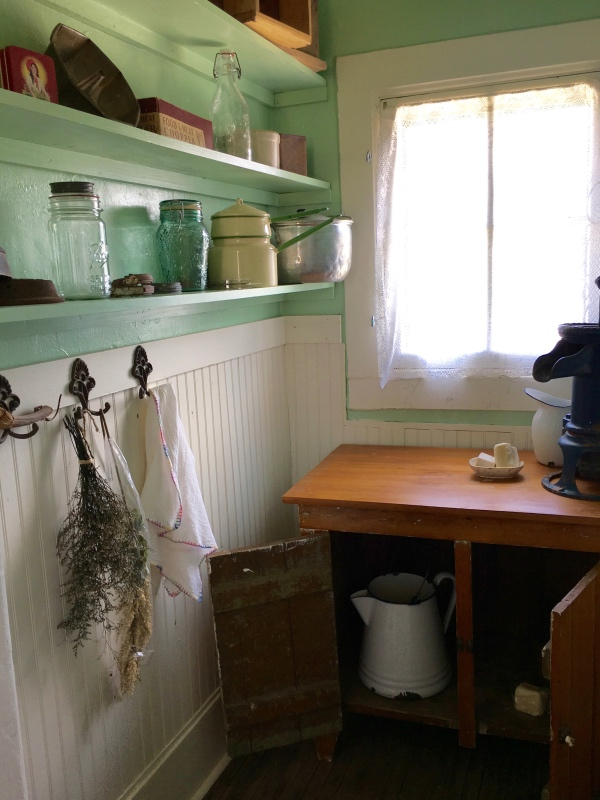 The dry sink currently located in the pantry of the house was original to the time of the Milners. Though it had traveled on with the family as they moved away, upon hearing that the house had been restored, the family sent it to the museum feeling that that is where it rightly belonged.