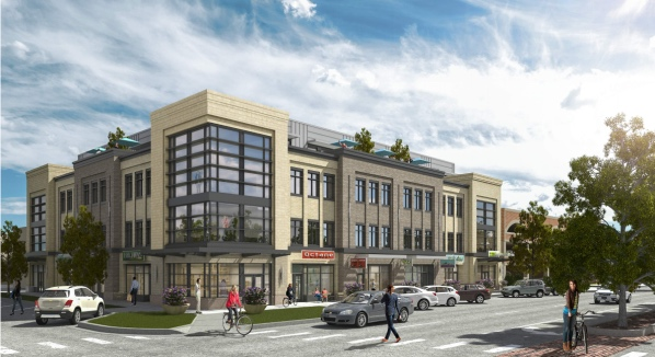 Proposed office building (with some retail) at 221 E. Mountain.