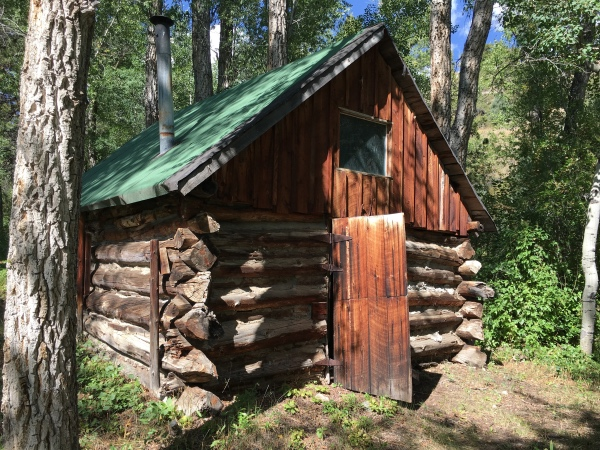 The ice house may have originally been from the mining community of Manhattan.