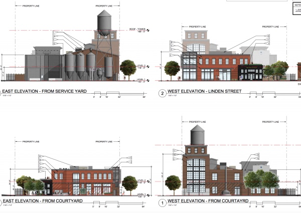 Old Elk Distillery, proposed to go in at the south corner of Linden and Willow.