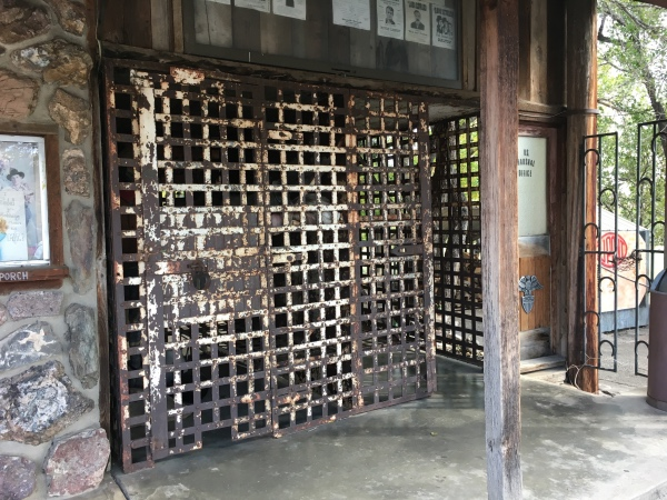 Gates from the Loveland jail that Bob Webb added to the south side of the store.