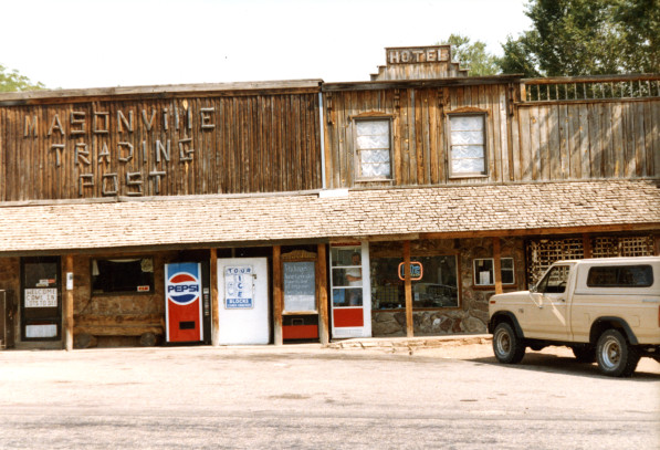 The trading post in 1988. (Photo on file at the Fort Collins Archive #H16959.)