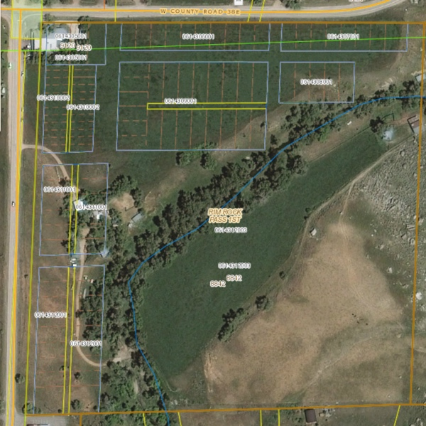Masonville, as seen on the Larimer county assessor's map.