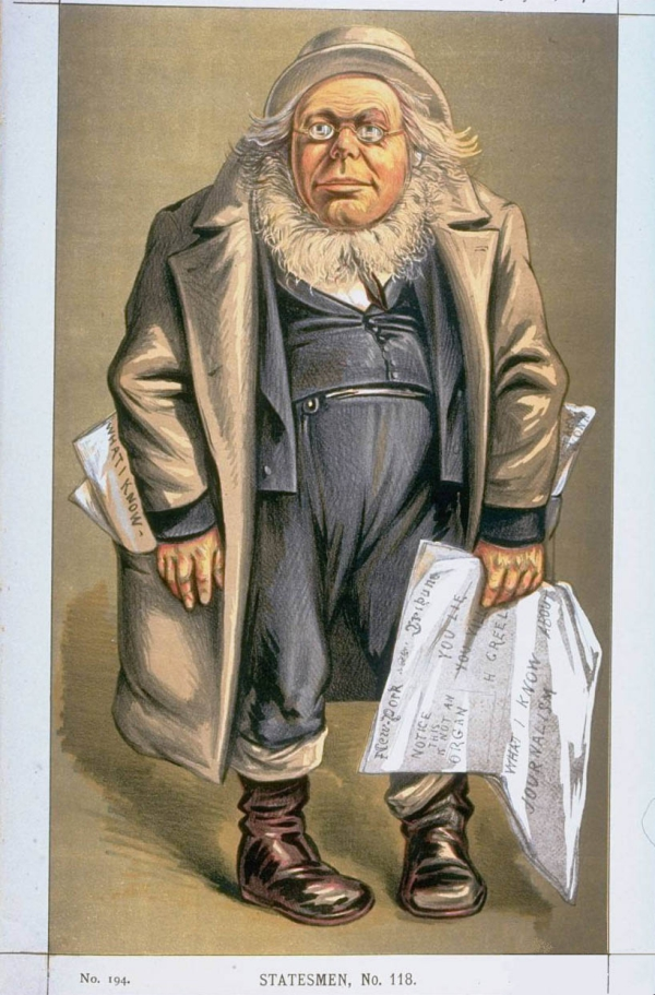 """From Vanity Fair, 20 July 1872. The image was captioned """"Anything to beat Grant."""""""