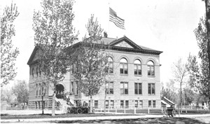 Fort Collins High School was formed in 1889. It was housed in a couple of other buildings before this one was built on Meldrum between Mulberry and Magnolia in 1903. (This photo is from the Fort Collins Archive - #H09765.)