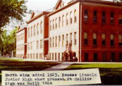 "The note under this photo isn't quite accurate as the annex was built in 1922 and the junior high wasn't called ""Lincoln"" at the time that it expanded to take over the entire building."