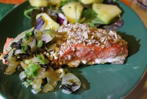 One of our delicious salmon dinners.