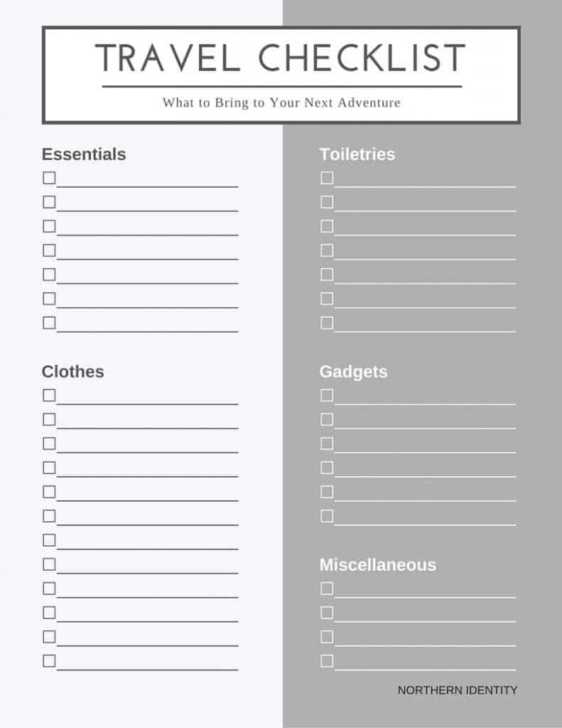The Art of Packing Light - Downloadable Travel Checklist