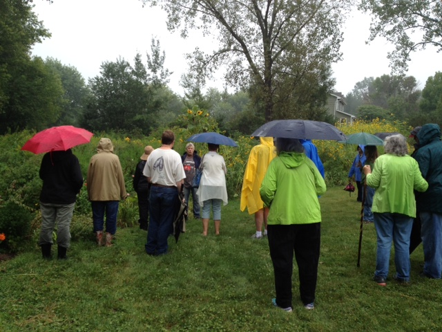Members of Northern Kane County Wild Ones on a native garden tour