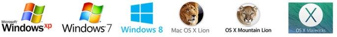 major OS logos