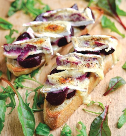 Beetroot Melted Brie
