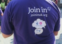 Join In t-shirt at the Tour de ITV