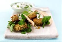 falafel in pitta pockets