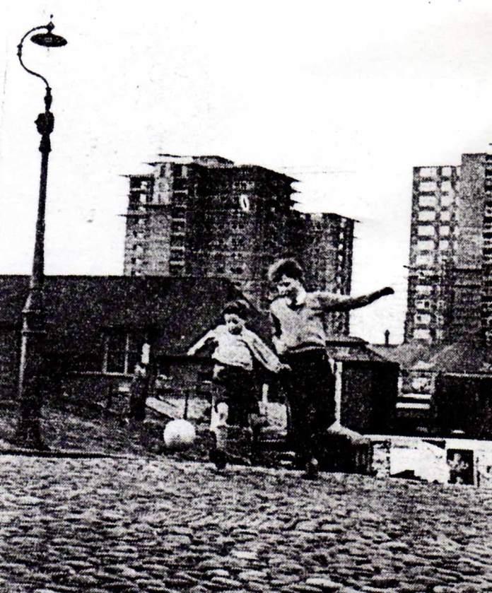 Cobbled street football popular as ever