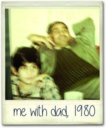 Riz with dad 1980
