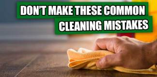 spring cleaning mistakes