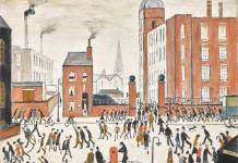 L.S. Lowry, The Rush oil on canvas, 1964
