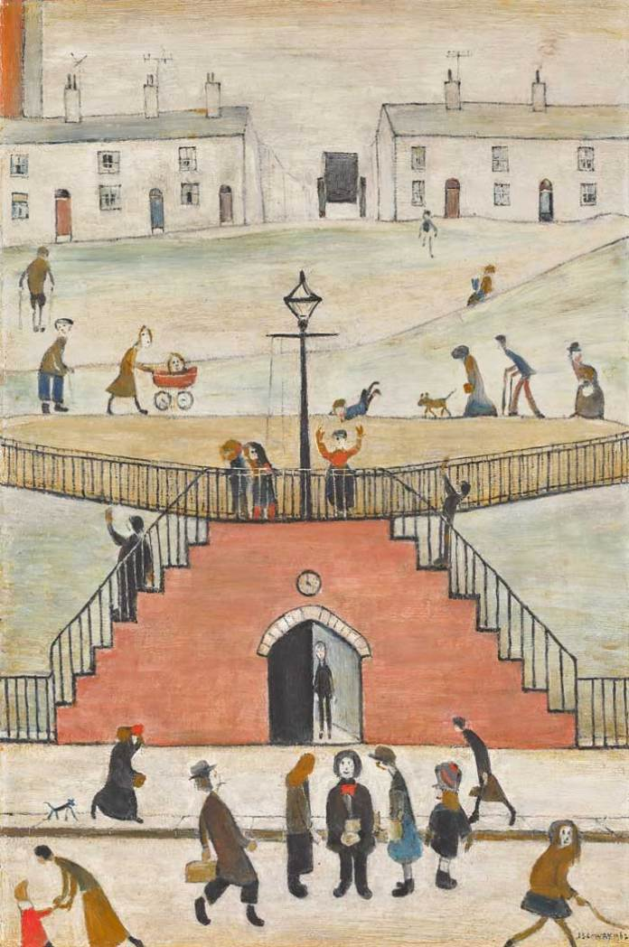 L.S. Lowry, The Steps oil on canvas, 1962