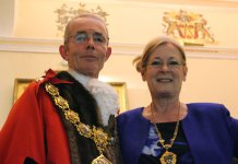 Pendle's Mayor and Mayoress Cllr David Whalley & Barbara Whalley