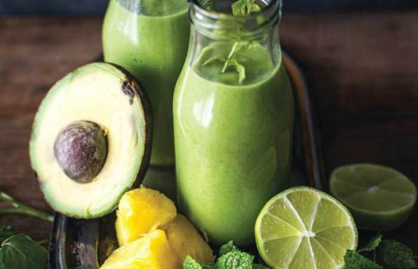 Watercress avocado and lime smoothie