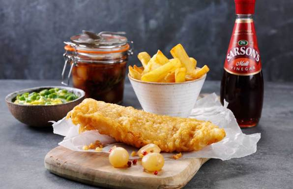 Sarson's Fish and chips