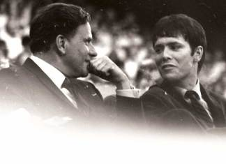 Billy Graham and Cliff Richard 1966 Earls Court London