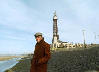 Billy Graham on the beach in Blackpool 1982