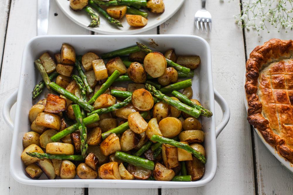 Balsamic roasted new potatoes