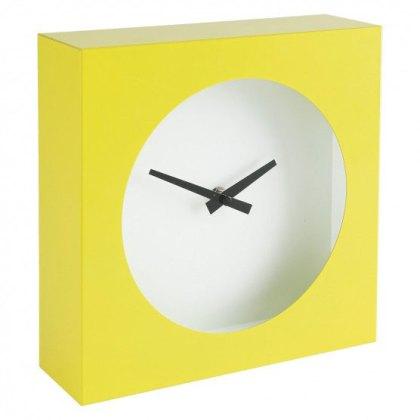 Yellow metal desk clock
