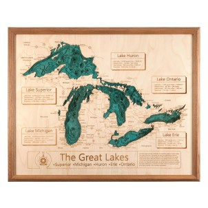 3D Great Lakes Map