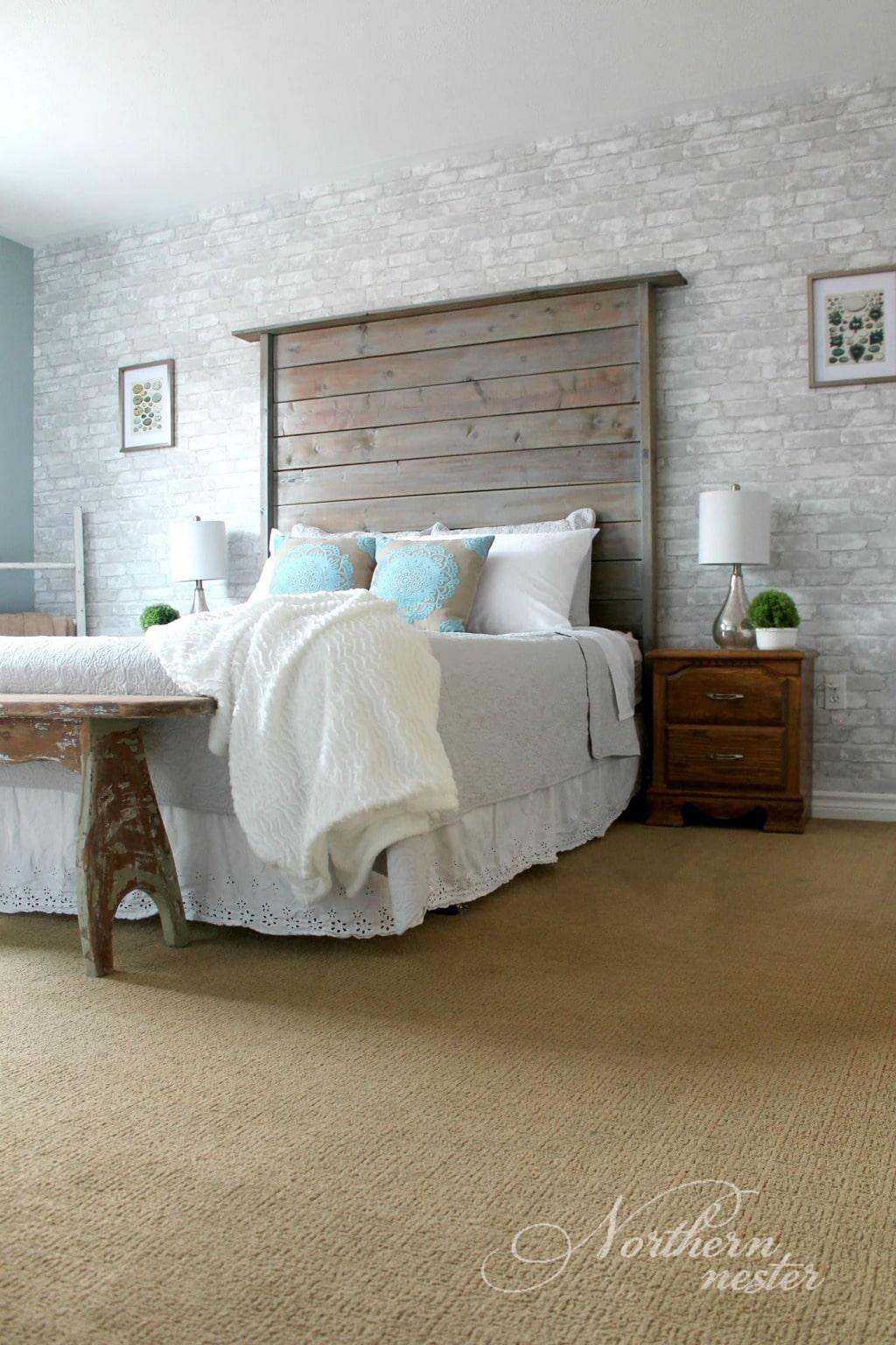 Neutral Farmhouse Master Bedroom Makeover   Before & After ... on Master Bedroom Farmhouse Bedroom Images  id=90228