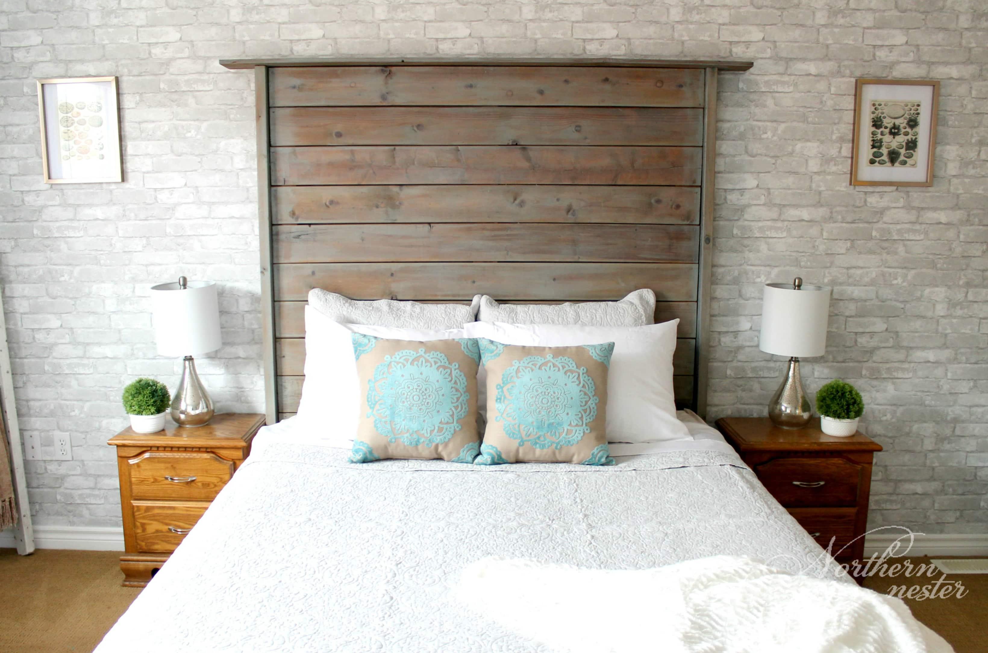 Neutral Farmhouse Master Bedroom Makeover   Before & After ... on Master Bedroom Farmhouse Bedroom Images  id=70995