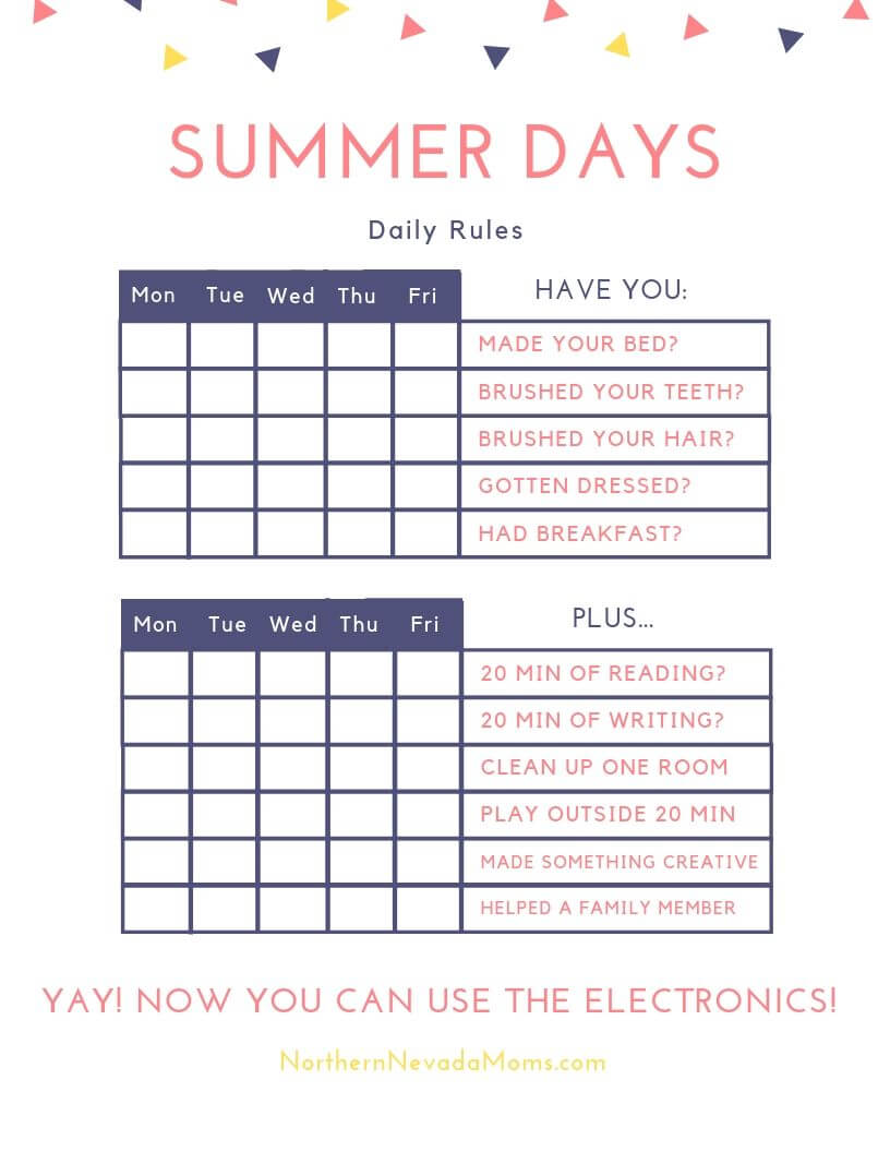 graphic about Summer Rules Printable titled Summertime Guidelines in the direction of Retain Little ones Inspired No cost Printable + Summer months