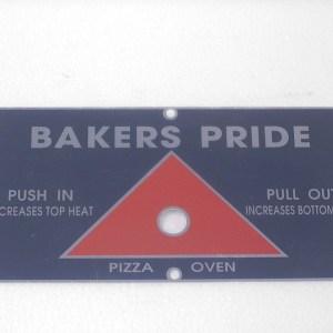 Bakers Pride Push/Pull Plate y-600