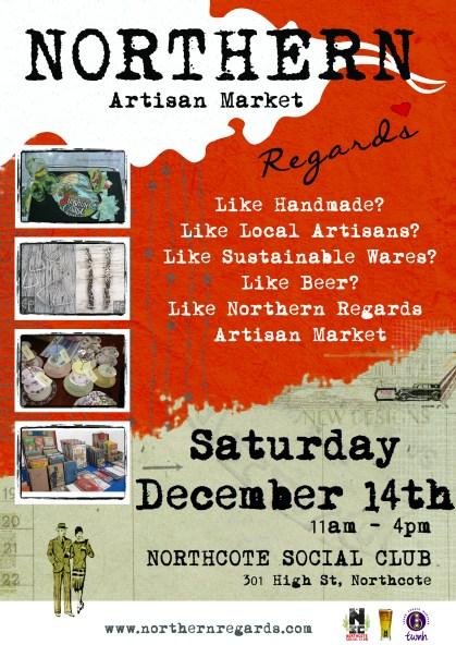 NorthernRegards December Market Poster