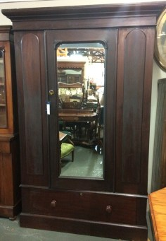 Northern Rivers Antiques -1870's Cedar Wardrobe