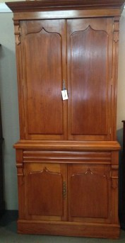Northern Rivers Antiques - 1900 Kauri Pine Bookcase.